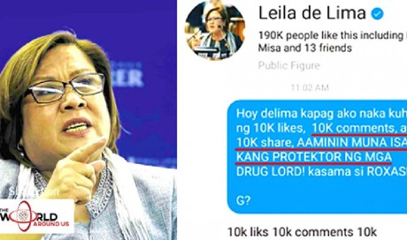 Netizen Dared De Lima to Admit Links With Drugs Using Creative Tactic. HOW? READ HERE! | Philippines | News | WAU