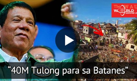 President Duterte: First Ever President To Lend 40M Worth of Help for Typhoon Victims in Batanes! |  Philippines | WAU
