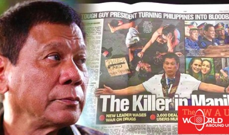 NETIZENS REACT: Photo Of President Duterte In A Newspaper With Caption 'Tough Guy President Turning Philippines Into Bloodbath' | Philippines  | WAU