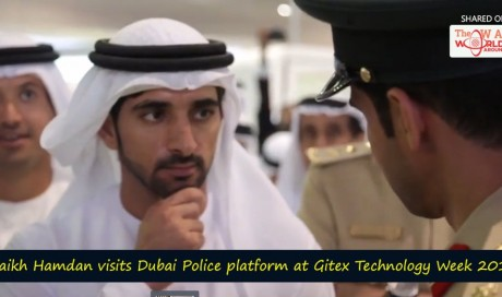 Shaikh Hamdan visits Dubai Police platform at Gitex Technology Week 2016!