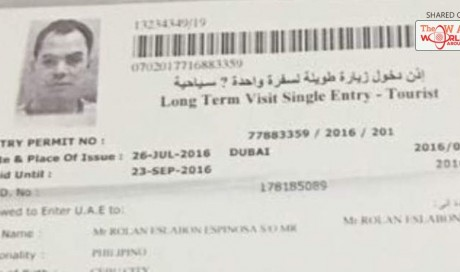 This is the tourist visa Filipino drug lord used to enter UAE | News | UAE | WAU