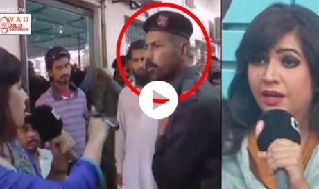 SHOCKING! Female Pakistani journalist slapped by police man. WATCH HERE!
