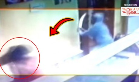 This Video Of A Goon Attacking A Woman With A Sword In A Temple Goes Viral