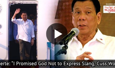 Duterte Said That God Talked To Him On The Plane: 'I Promised God Not to Express Slang, Cuss Words'