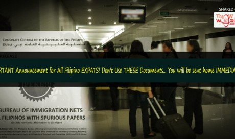 Filipinos Travelling to UAE: Beware of Using Fake Documents, Close to 2000 Pinoys Off-Loaded