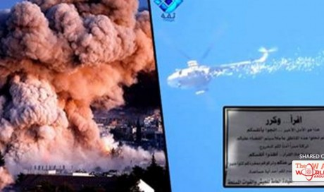 Russia Drops Terrifying Leaflets To Citizens Of Aleppo