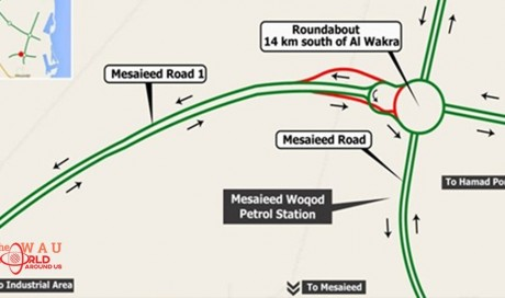 Three month traffic diversion on Mesaieed Road