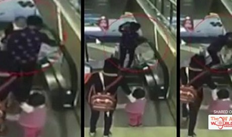 Baby boy accidentally dropped to his death after grandma lost footing on escalator