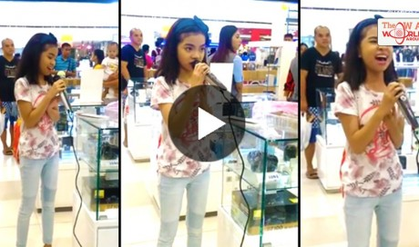 This Young Filipina Starts Singing At A Mall And Everyone Stops Just To Hear It! Watch This!