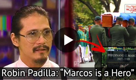 "Actor Robin Padilla Strongly Supports Marcos' Hero's Burial! ""Marcos Is A Hero'"