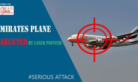 Emirates plane targeted by laser pointer in 'serious attack'