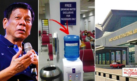 NAIA Terminal Offers FREE Mineral Water For Passengers Under Duterte's Administration!