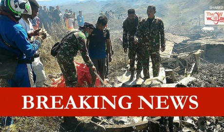 13 people killed when Indonesian C-130 cargo plane hits mountain
