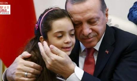 Syrian girl who tweeted from Aleppo meets Turkey's Erdogan