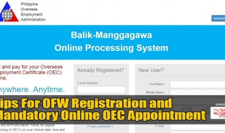 Tips For OFW Registration and Mandatory Online OEC Appointment