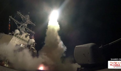 Watch: US launches land attack missiles on Al Assad's military assets in Syria