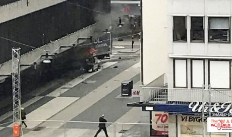 Stockholm lorry rams crowds, killing 'at least four people'