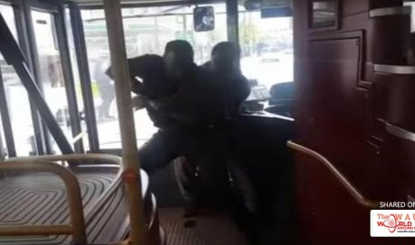 Police launch gangs probe into shocking video of passenger grappling with 'knifeman' on London bus