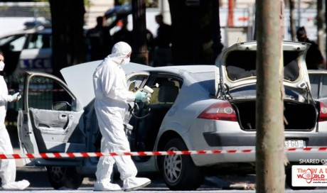 Car rams into police vehicle on Champ-Elysees in Paris