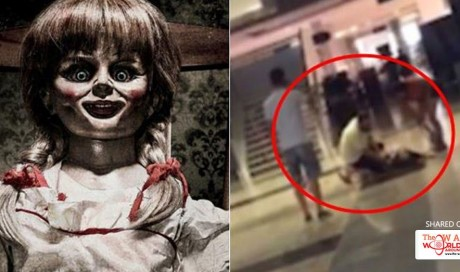 Video: Woman gets hysterical, PUNCHES HERSELF after watching Annabelle: Creation