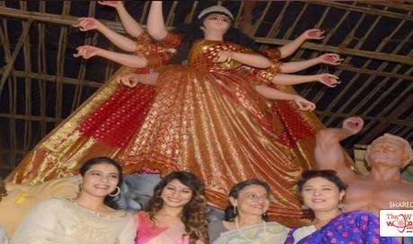 Durga Puja 2017: Kajol, Tanishaa, Sharbani And Tanuja Are Festive Happy