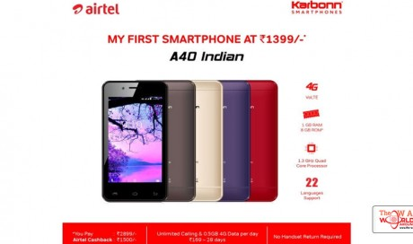 Airtel Takes on Jio Phone, Offers 4G Smartphone at 'Effective Price' of Rs. 1,399