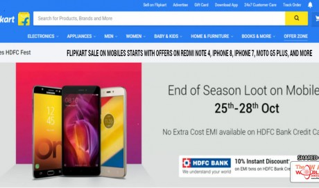 Flipkart Sale on Mobiles Starts With Offers on Redmi Note 4, iPhone 8, iPhone 7, Moto G5 Plus, and More