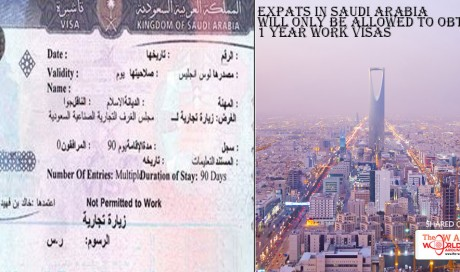 Expats in Saudi Arabia will only be allowed to obtain 1 year work visas
