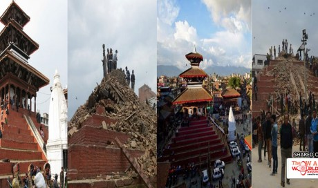 Historical sites destroyed by the Himalayan earthquake in Nepal – Before and after