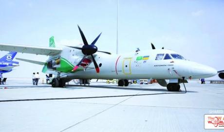 Saudi-Ukrainian Antonov aircraft attracts armed forces at Dubai Airshow
