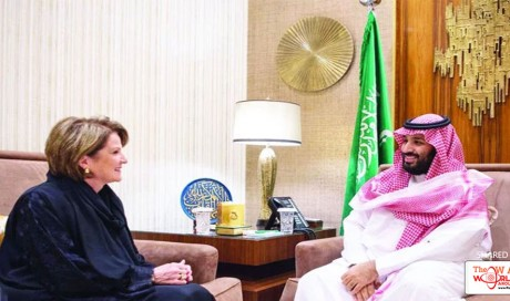 Saudi Crown prince discusses defense cooperation with Lockheed Martin