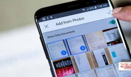 Adobe Scan uses AI to automatically detect documents in your gallery