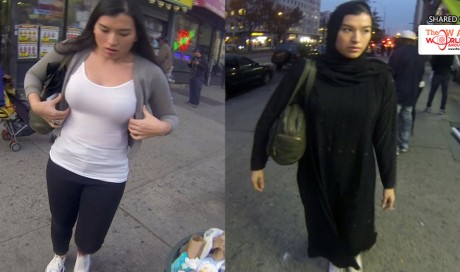 Wearing Ordinary Clothes vs. Muslim Hijab While Walking in NYC…The Outcome is Quite Surprising!