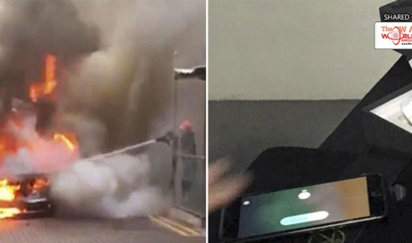 iPhone 8 Plus Remains Intact Inside Burning Mercedes Benz