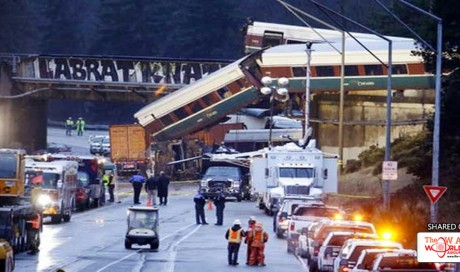 In pics: Amtrak train in US derails during debut run on new route, falls on road