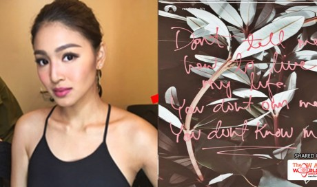 Nadine Lustre Posts Another Fearless Statement To People