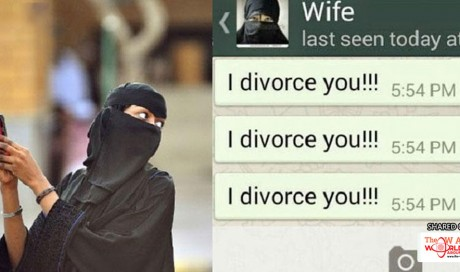 A lady sent a divorce message to herself from her husband's cell phone