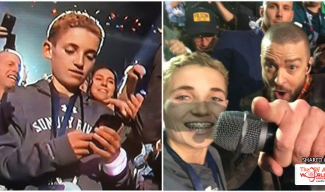 """Selfie Kid"" Goes Viral After Stealing The Spotlight From Justin Timberlake's Super Bowl Performance"