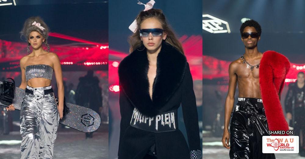 5cf8e48d0b1 Philipp Plein Takes Ny Fashion Week on Snowy Spaceship Ride