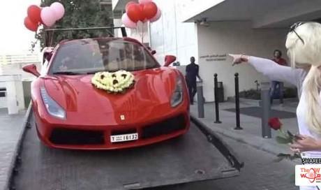 Watch: Dubai expat gets Ferrari for Valentine's Day