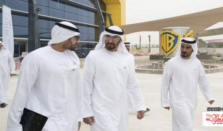 Sheikh Mohamed visits projects at Yas Island