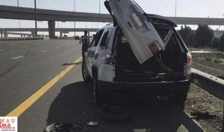 Driver dies after car hits him on road shoulder in Dubai