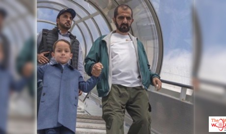 Look:   His Highness Shaikh Mohammad joins sons in London
