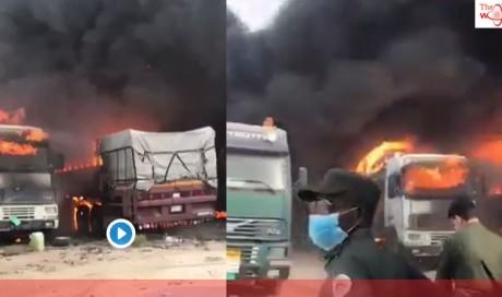 Video: UAE, Saudi Arabia tackle raging fire at border