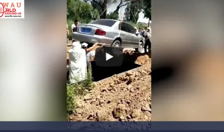 Video: Man granted dying wish, buried with his car