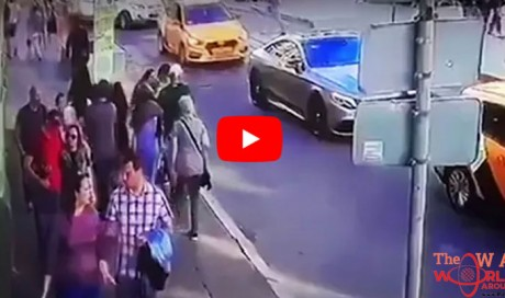 WATCH: Terrifying moment taxi crashes into World Cup fans in Moscow