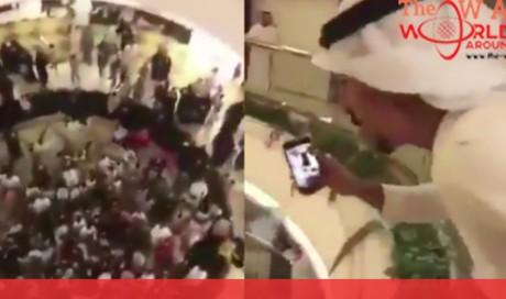 VIDEO: Saudi social media celebrity throws eid money at people, goes viral