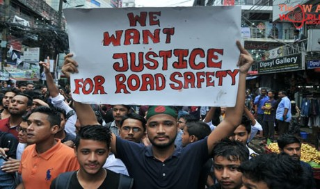 Bangladesh approves new road safety law to placate protesters