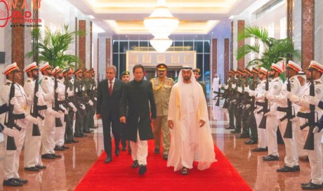 Pakistan PM Imran Khan arrives in UAE