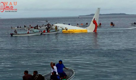 Airline says one missing after Pacific lagoon plane crash